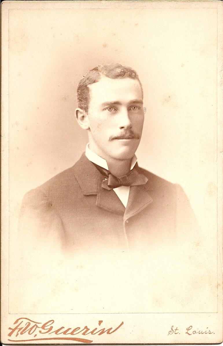 Ned has gained a mustache by the time this photo was taken.  He was born in 1854.  How old does he look in this undated photo?