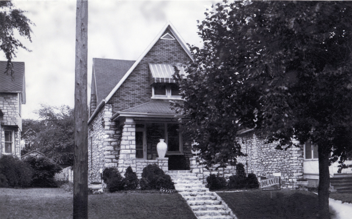 There are ten stone homes on Big Bend directly across from the former quarry location.  There are five on Walter.  When first built they were all nearly identical.  The house in the photo at 3220 Big Bend was built in 1910.  The photo is from 1950.  The front yard was later lost to the construction of the viaduct and the widening of Big Bend.  a source long forgotten told me that these homes were built on speculation by the owner of the quarry.