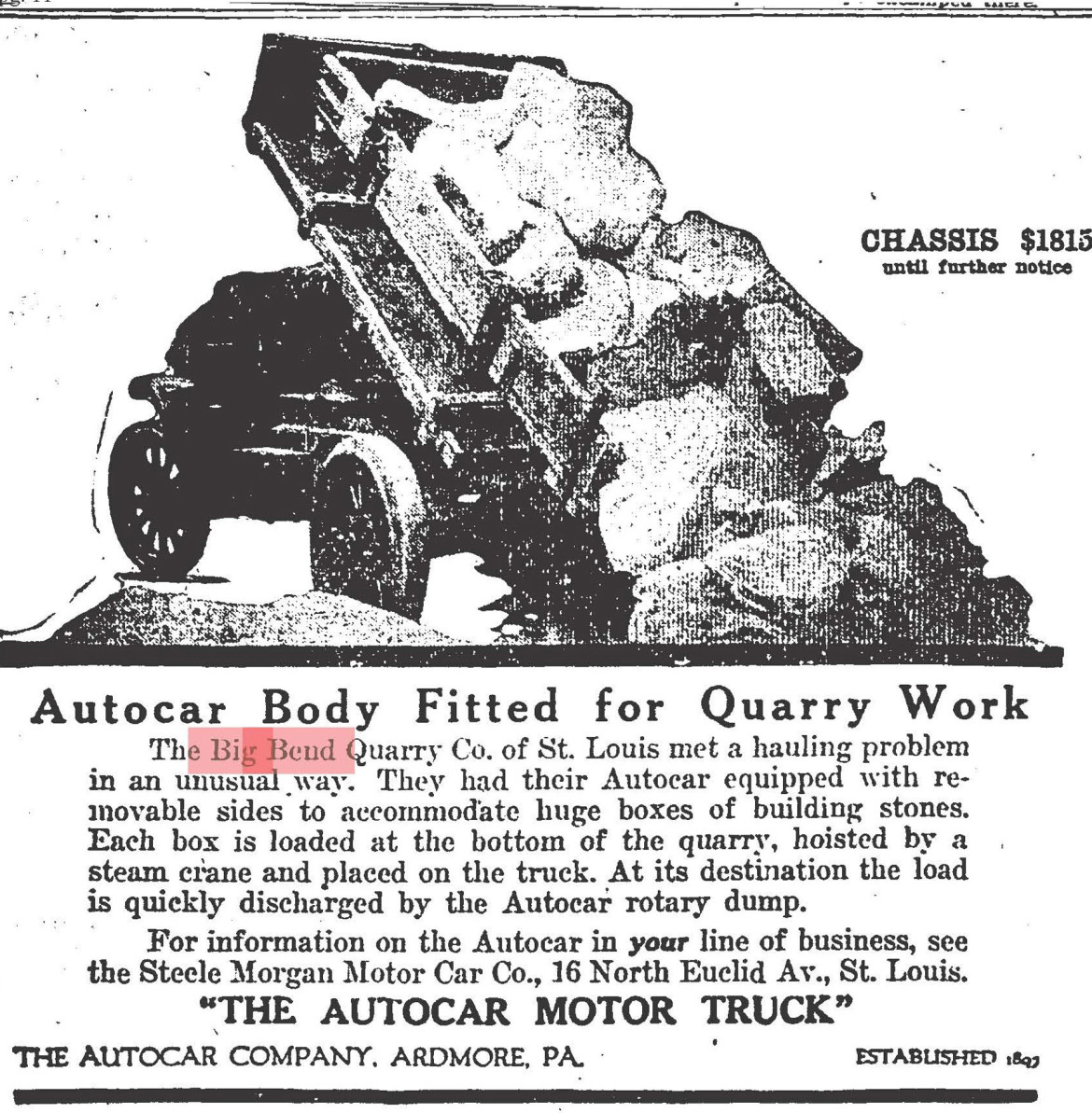 This advertisement appeared in the St. Louis Post-Dispatch in August of 1917.