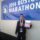 Juan Arias with his bib number.