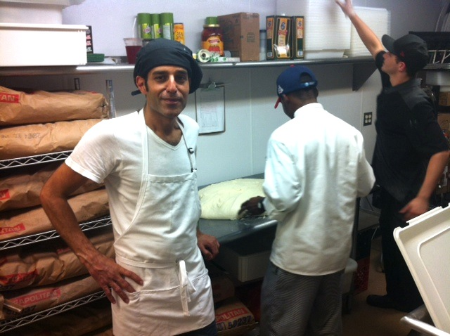 A Pizza Story co-owner  Muhammad Alhawagri broke two of his fingers mixing dough. He was back at work in two days.