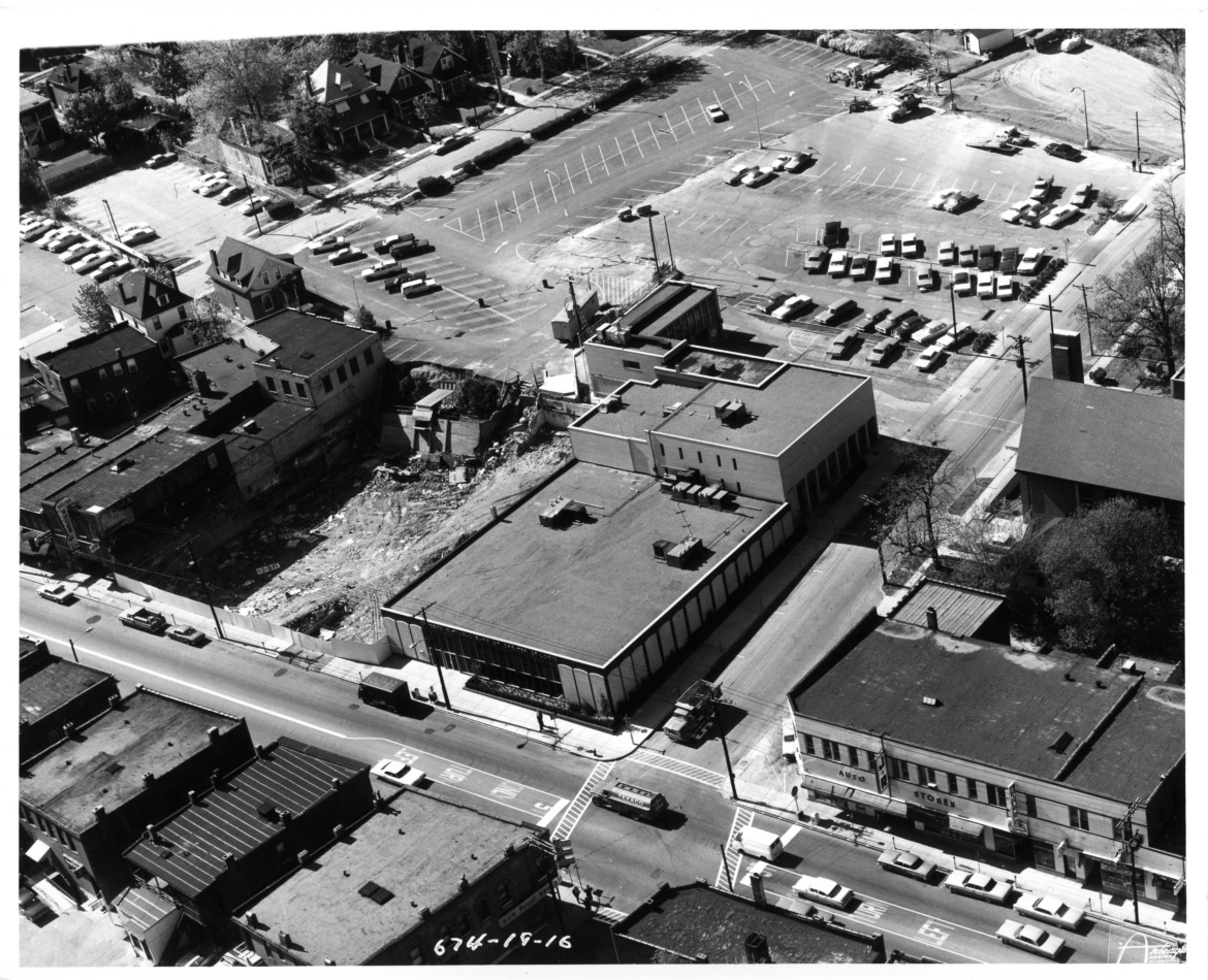 An aerial view from 1967.  Courtesy of the Maplewood Public Library