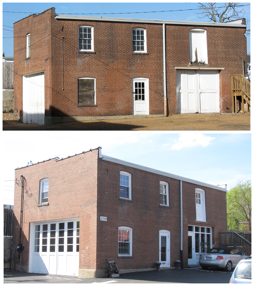 The aforementioned Mule Palace before and after restoration.  Nice job!