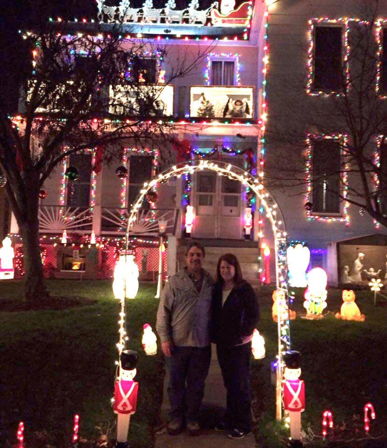 John and Pat Hendel lit up their house Sunday night — for the 23rd year