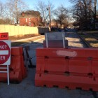 Hazel Avenue is currently, temporarily closed at the end next to Tim Hortons.