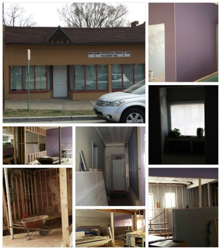 Recent photos of construction for the kitchen at Maplewood Pentecostal Church of God.