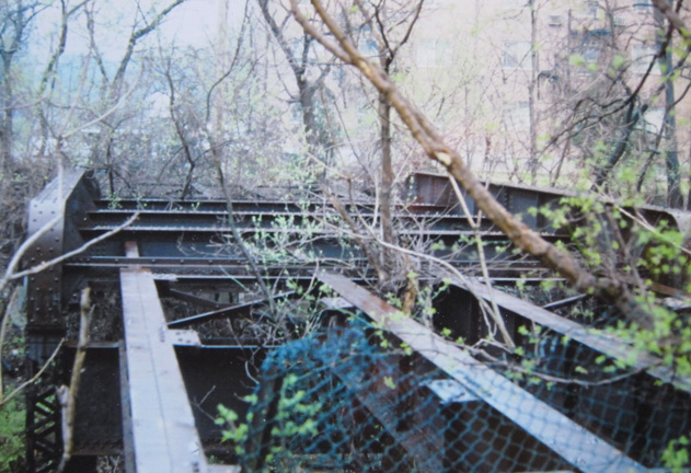 These remains are not of the Edgebrook bridge but of another that was on the same line. it was just west of Laclede Station road and north of the Metrolink Station. If i remember correctly I bought this for a couple of bucks online. It is now in the collection of the Maplewood Public Library.