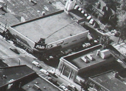 Seen here from the air when the Maplewood bank was still just across Sutton. Courtesy of Dan Walper at Citizen's National Bank.