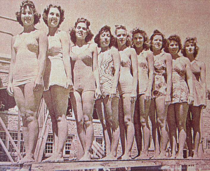 The bathing beauties. Their identities are next to the following image.