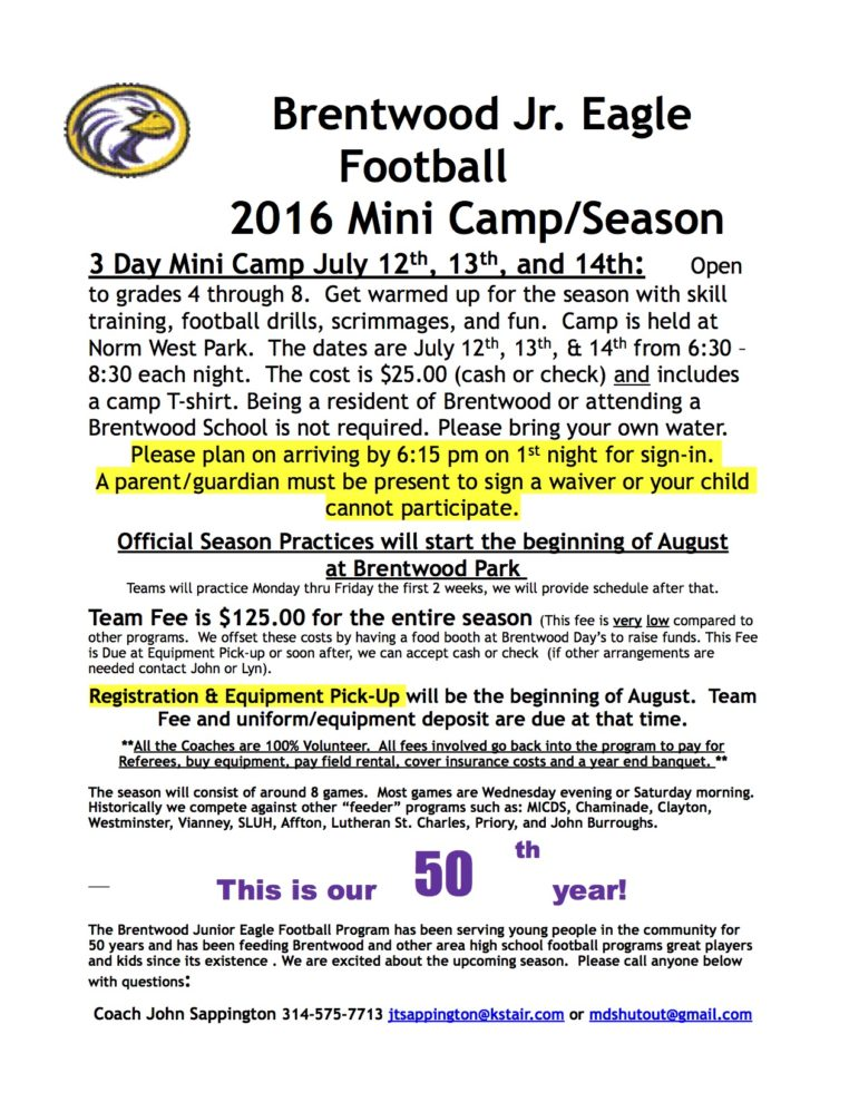2016 General Program Info Flyer Emphasis on Camp