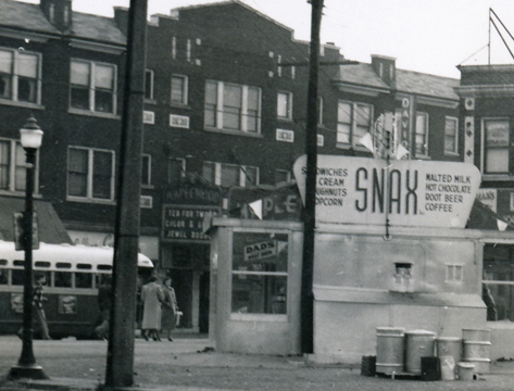 Her it is. Barely visible behind the Snax stand is what must be the original marquee of the Maplewood Theater. I have never seen a photograph of it before. I had no idea that this early one even existed. I really like the looks of it. Wish we new what colors it was. courtesy of the National Building Arts Museum